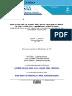 Indicadores Trayectoria Escolar Alumnos Psicologia Universidad Veracruzana Gutierrez Granados Landeros