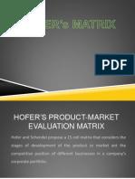 hofer's matrix
