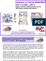 Earthquake Awareness and ShakeOut Teachers Toolkit (PowerPoint)