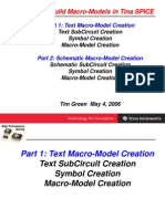How to Create Macro Models In TINA-TI