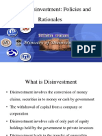 disinvestment policy of india
