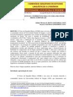 O DESENVOLVIMENTO DA COMPREENSÃO ORAL NO CESB ATRAVÉS DE MEIOS AUDIOVISUAIS