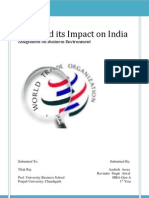 WTO and Its Impact on India