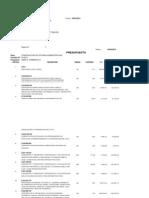 Proyecto-Construcción de Oficinas Administrativas, Presupuesto.