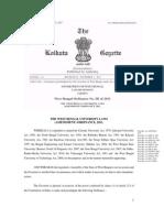 West Bengal University Laws (Amendment) Ordinance, 2011