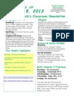 March 18 Newsletter