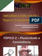Conscistencia e Plasticidade Do Solo