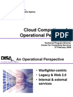 Federal Cloud Computing IT Quarterly Forum Q1 2009 - Cloud Computing - An Operational Perspective From DISA