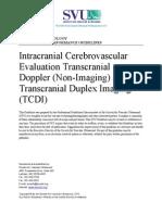 Intracranial Cerebrovascular TCDI