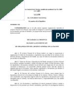 Ley No.912 QUE CREA EL ARCHIVO GENERAL DE LA NACION.doc
