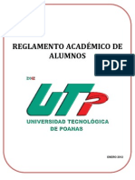 Reglamento Academico de Estudiantes Utp