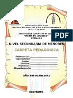 Carpeta Pedagogica Secundaria Corregida 2012