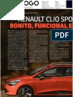 """NOVO RENAULT CLIO SPORT TOURER NO """"O JOGO"""""""