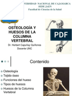 II CLASE de ANATOMIA , Osteologia,Columna Vertebral