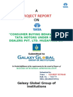Project Report onTata Motors Consumer Behaviour