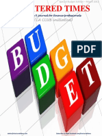 Chartered Times - Budget Edition