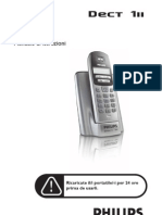 Manuale italiano telefono portatile Philips Dect III
