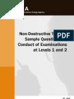 Non Destructive Testing Sample Questions