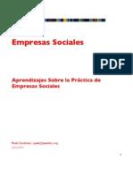 Aprendizajes Negocios Sociales
