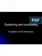 explaining and counselling