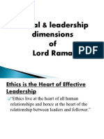 Ethical & Leadership Dimensions of Lord Rama