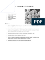 yeast vs sand experiment