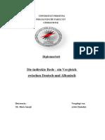 Die Indirekte Rede - Ein Vergleich Zwischen Deutsch Und Albanisch