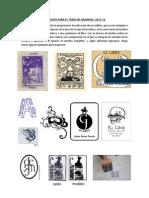 Ejercicios Para El Tema de Grabado 2012-13.