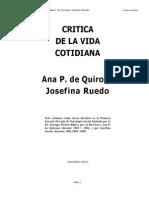 Critica de La Vida Cotidiana Ana Quiroga