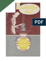 Vita Craft Instruction Book.  1948
