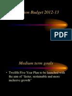 Budget - 20112-13