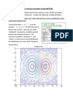 Vector Calculus MATLAB