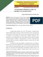 """A IMAGEM DAS MULHERES OPERÁRIAS NA OBRA """"OS CORUMBAS"""" DE AMANDO FONTES"""