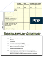 National History Day Documentary Rubric