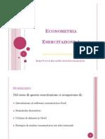 Econometria-Esercitazioni
