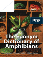 Eponym Dictionary of Amphibians - Contents and sample Chapter