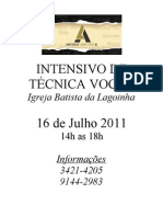 59859260 Intensivo de Tecnica Vocal