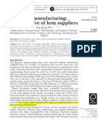 Lean Manufacturing Article