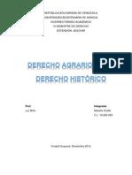 El Derecho Agrario como Derecho Histórico Mairelis