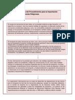 TOCGA U3 Act1 Diagrama del Procedimiento para la Importación de Mercancías Peligrosas