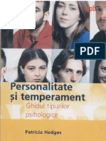 Hedges - Personalitate Si Temperament - Ghidul Tipurilor Psihice