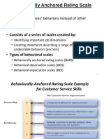 Behavioral Anchored Rating Scale