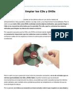 Como Se Deben Limpiar Los CDs y DVDs
