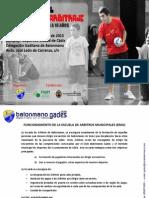 Curso Municipal de Arbitros - Cádiz 2012-2013