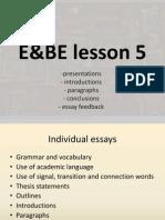 E&BE lesson 5