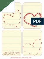 Heart Journal Cards Printable