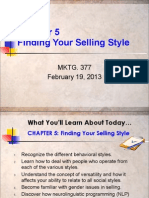 Chaper 5 - Your Selling Style 2-19-21