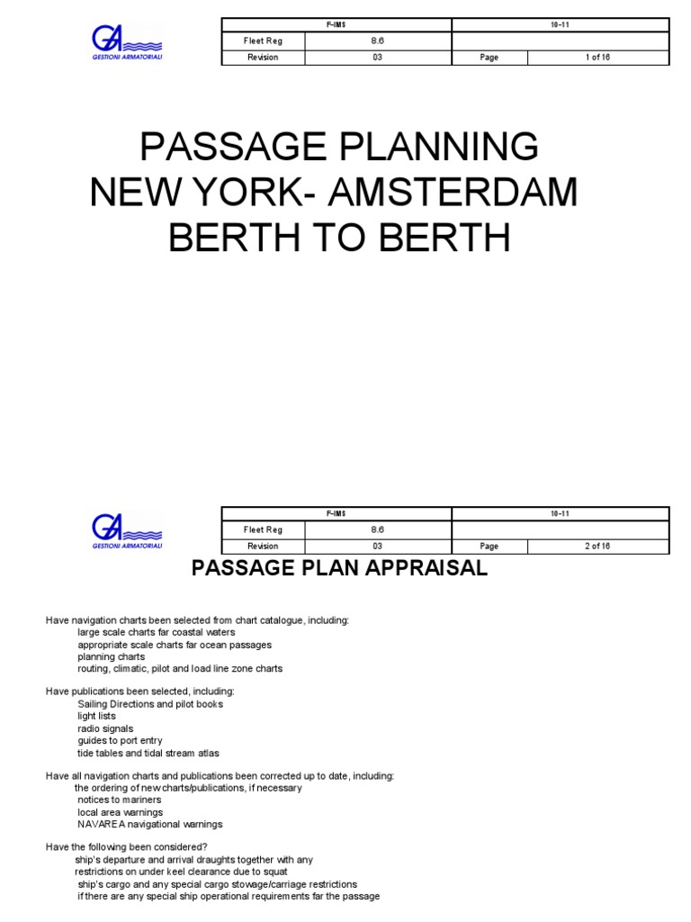 Passage plan new york amsterdam tide anchor nvjuhfo Gallery