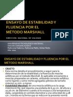 Ensayo de Estabilidad y Fluencia Por El Metodo Marshall