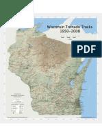 Wisconsin Tornado Track Map 1950-2008